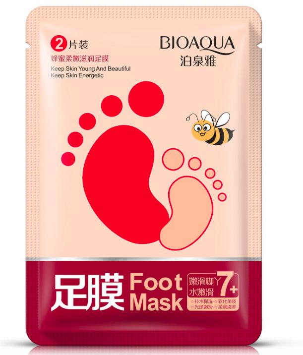 Увлажняющая смягчающая маска-носки для ног BioAqua Foot Mask