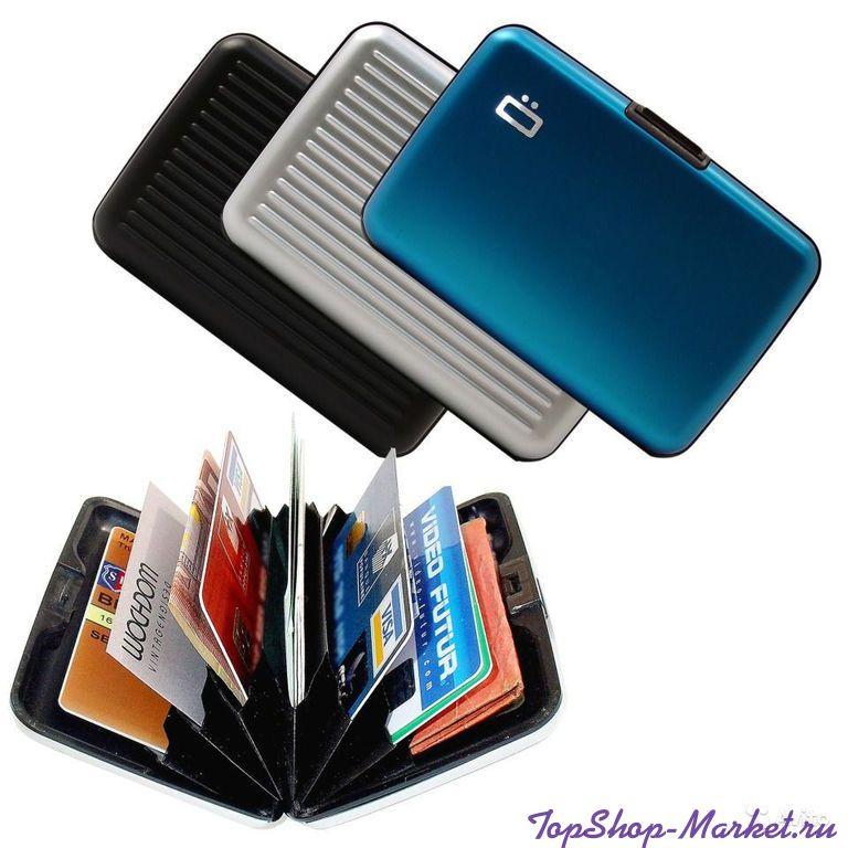 Бокс для кредитных карт Alluma Wallet (Security Credit Card Wallet), Цвет: Черный
