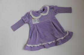 Платье велюр сирень 709-0733
