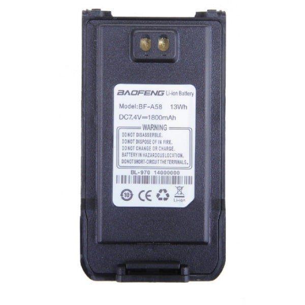 Аккумулятор BL-970 для рации Baofeng BF-A58 и BF-9700 и BF-S56 Max (1800 мАч) черный