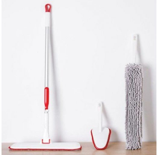 Швабра Appropriate Cleaning Household Cleaning Small Kit TZ-01 Red Gray Cloth