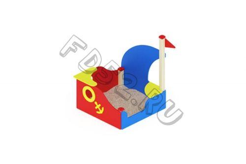Песочница Кораблик с парусом                                           1300х1360х1500