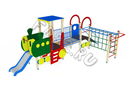 Детский игровой комплекс                           Паровозик Горка 750                                           6750х3600х2550