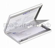 Визитница металл.2433-23 2 отделения Business Card Box Duo Durable