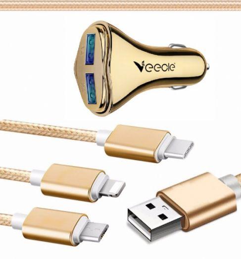 ЗУ в прикуриватель на 2 гнезда USB VEECLE HM-C13