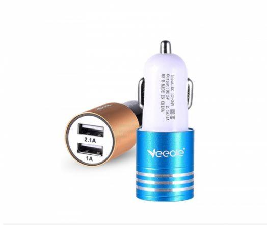 ЗУ в прикуриватель на 2 гнезда USB VEECLE KY-C05