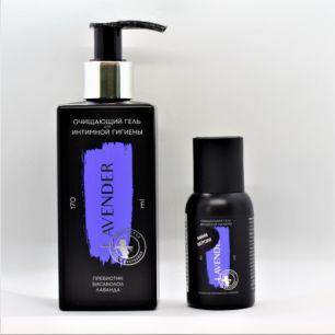 """""""Мастерская О.М."""" Lavender для интимной гигены гель очищающий пребиотик бисаболол лаванда 45мл"""