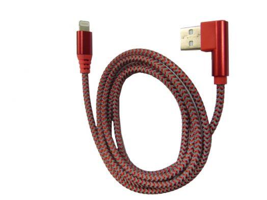 Кабель USB 2А Орбита KM-59 (iPhone5/6/7 угловой USB) 1м