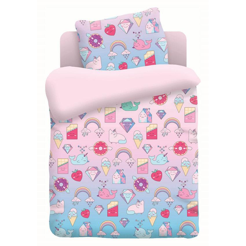 """Детское постельное бельё """"Няшки"""", рис.9004-розовый (Непоседа)"""
