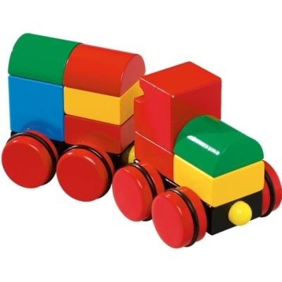 Деревянная игрушка BRIO Конструктор из кубиков на магнитах Поезд
