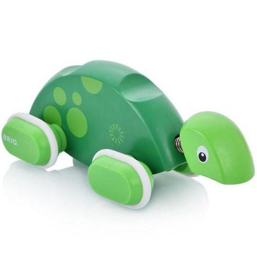 Деревянная игрушка BRIO Каталка Черепашка на веревочке