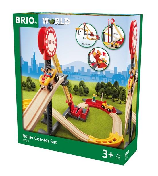 BRIO Игровой набор ж/д с Американскими Горками, 2 фигурами, 2 вагонами