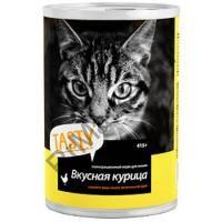 Tasty д/кошек консерва Курица в соусе 415г