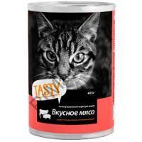 Tasty д/кошек консерва Мясное ассорти в соусе 415г