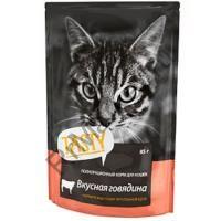 Tasty д/кошек пауч Говядина в желе 85г