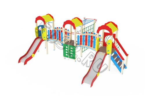 Детский игровой комплекс                           Городок Горка 1200                                           7120х5760х3000