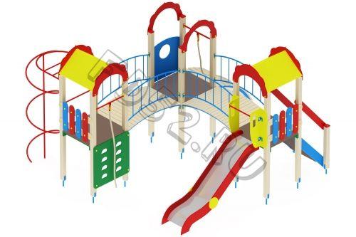 Детский игровой комплекс                           Городок Горка 1200                                           4780х4880х3000