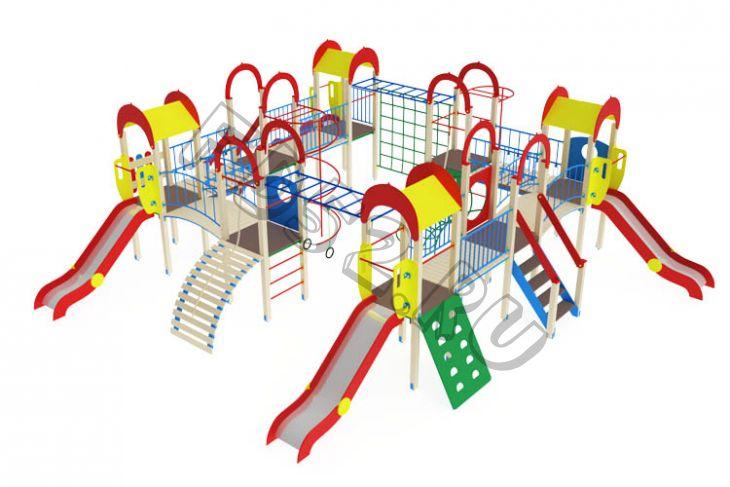 Детский игровой комплекс                           Остров детства Горка 1200                                           11030х9260х3000
