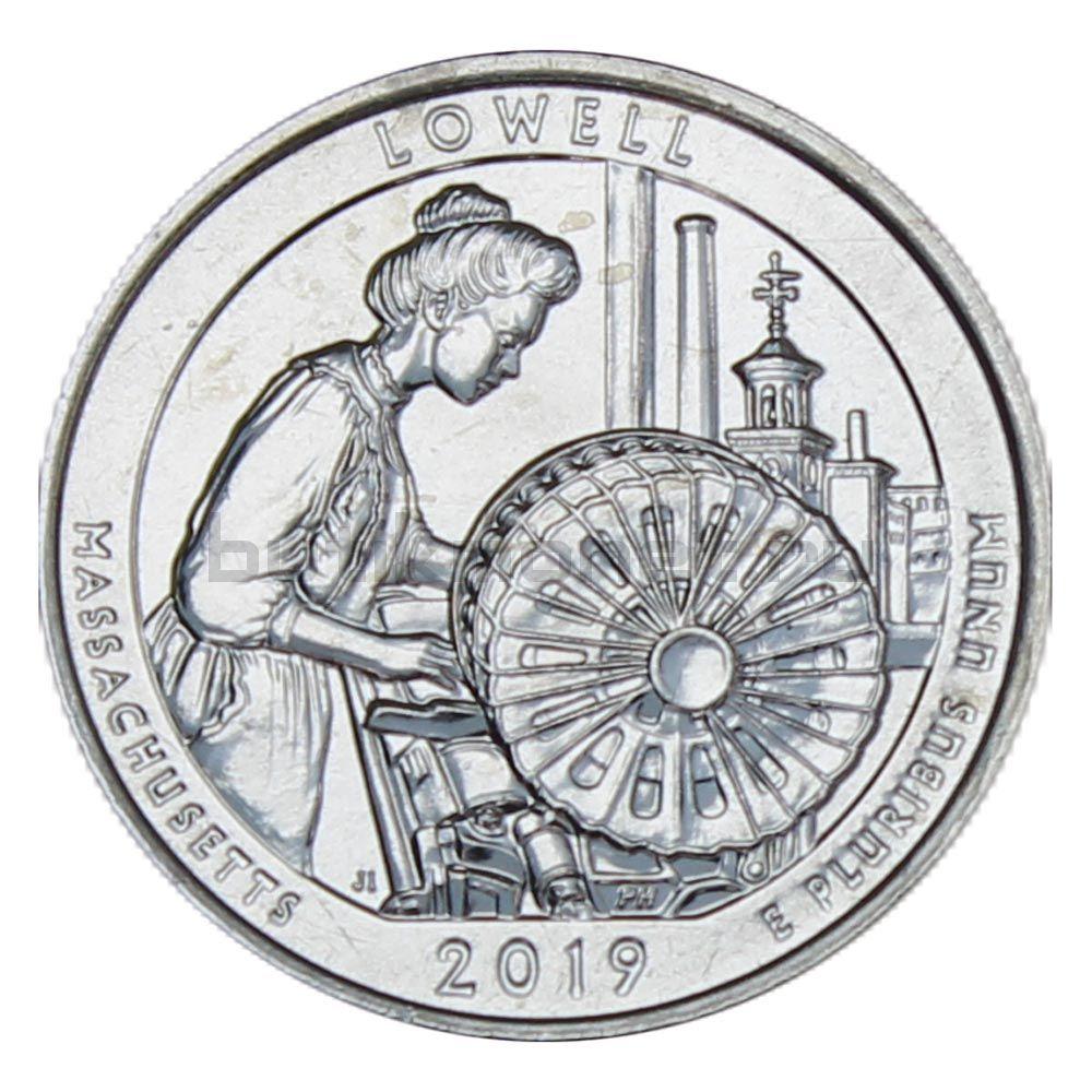 25 центов 2019 США Национальный исторический парк Лоуэлл D