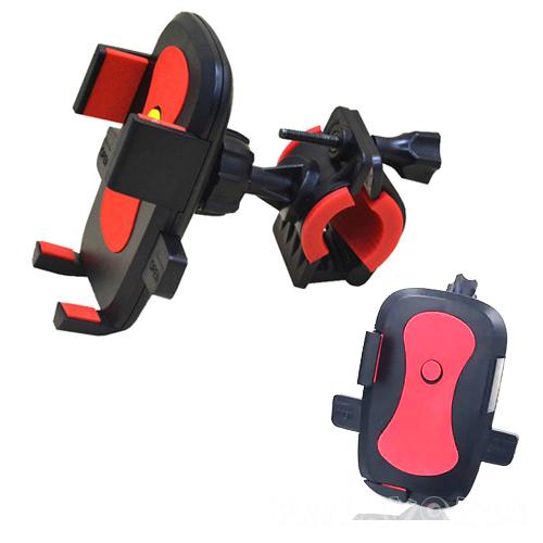 Держатель для телефона на руль велосипеда, красный