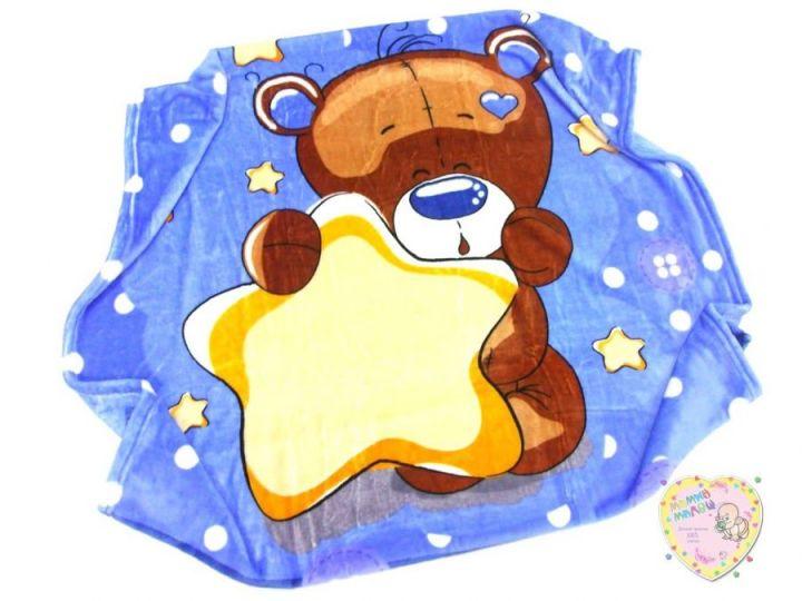 Плед детский 100х110 C-PO000-VS (велсофт голубой)