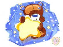 Плед детский велсофт голубой C-PO000-VS (01796-3) Мамин Малыш OPTMM.RU
