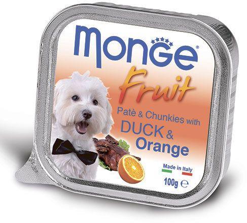 Monge Dog Fruit консервы для собак утка с апельсином 100 гр.