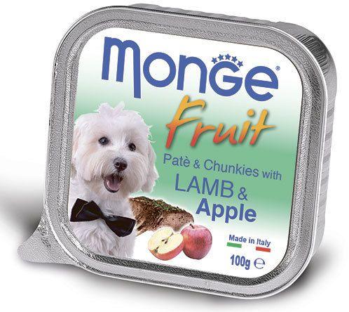 Monge Dog Fruit консервы для собак ягненок с яблоком 100 гр.