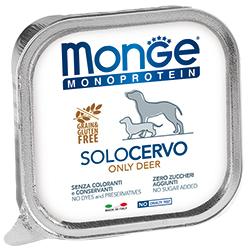 Monge Dog Monoprotein Solo консервы для собак паштет из оленины 150 гр.