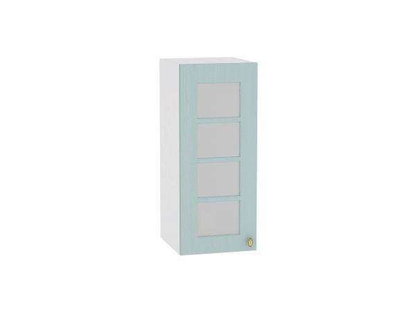 Шкаф верхний Прованс В300 со стеклом (голубой)