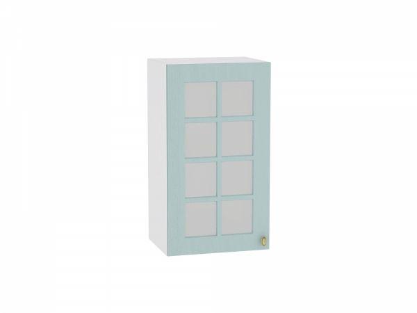 Шкаф верхний Прованс В400 со стеклом (голубой)