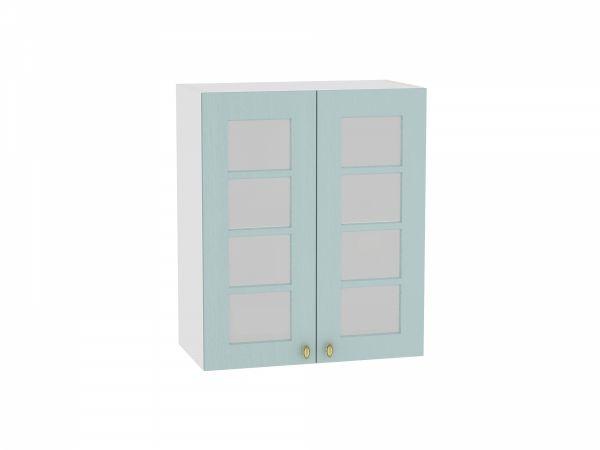 Шкаф верхний Прованс В600 со стеклом (голубой)