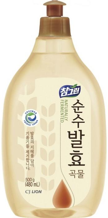 CJ Lion Средство для мытья посуды Chamgreen Pure Fermentation 5 злаков флакон 480 мл