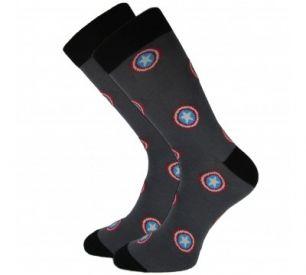 Мужские/подростковые носки  СЛ417, Капитан Америка»