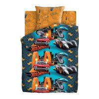 """Детское постельное белье """"Опасные гонки"""", рис.16135-16134 (Hot Wheels)"""