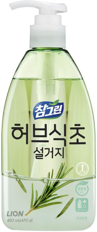CJ Lion Средство для мытья посуды, овощей и фруктов Chamgreen Розмарин флакон-дозатор 450 мл