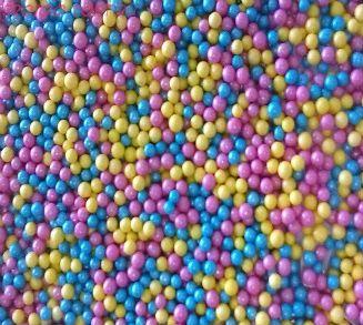 """Шарики сахарные """" BonBon  """" ( d-5мм) перламутровый вес 50 гр."""