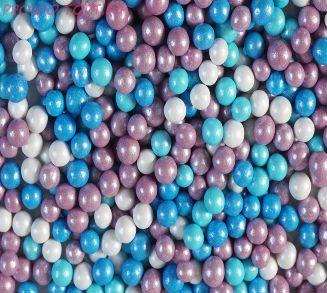 """Шарики сахарные """" Морской бриз"""" ( d-5мм) перламутровый вес 50 гр."""
