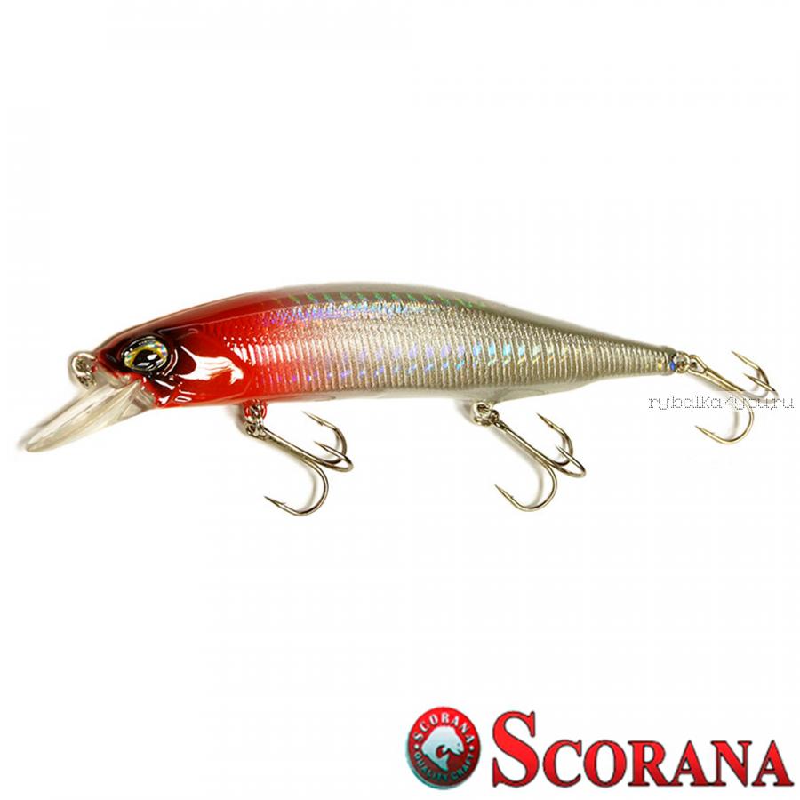Воблер Scorana Stout Minnow 110SP 110 мм / 16,5 гр / Заглубление: 0,5 - 1,5 м / цвет: HRH