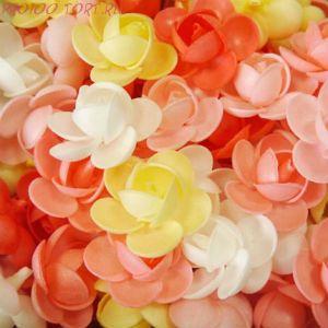 Вафельные цветы Пионы сложные 10 шт/уп.