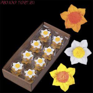 Сахарные цветы Нарциссы (d-50мм) 5шт/уп