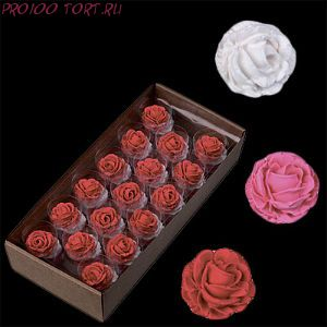 Сахарные цветы Розы  (d-50мм) 5шт/уп