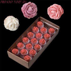 Сахарные цветы Розы ПАСТЕЛЬ  (d-50мм) 5шт/уп