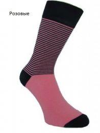 Мужские цветные носки  с418 в полоску 27-29