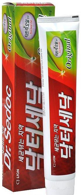 CJ Lion Dr. Sedoc Зубная паста масло чайного дерева против бактерий 140 г