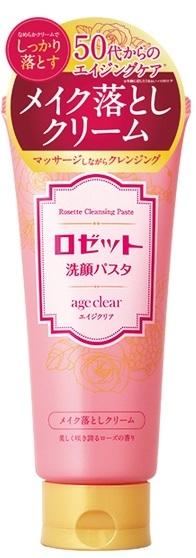 """""""ROSETTE"""" """"age clear"""" Пенка для умывания для сухой кожи с мембраной яичной скорлупы, маслами граната,  клюквы и малины, с ароматом розы. Для зрелой кожи, 120 гр., 1/48"""