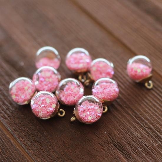 Кукольный аксессуар Бусина-подвеска с розовыми  звёздами