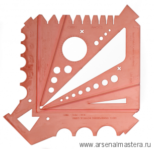 Шаблон измерительный для токарей 180 х 180 мм пластик NOVA Messlehre Teknatool / Neureiter М00013837