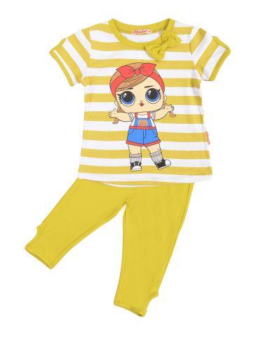 Костюм для девочек 3-7 лет Bonito BK1190KP желтый