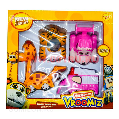 Набор энерционных игрушек из серии VROOMIZ (ВРУМИЗ) 4шт.